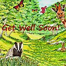 Friendly Faces - Get Well Soon Greeting Card by EuniceWilkie