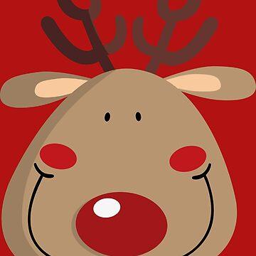 Rudolph the reindeer by JoanaJuhe-Laju