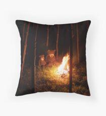 Deano Bears Bonfire Night Throw Pillow