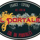 Col du Pourtalet Motorcycle T-Shirt + Sticker - Route des Cols Pyrenees by ROADTROOPER