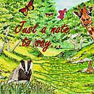 Friendly Faces - Just a Note to Say... Greeting Card  by EuniceWilkie