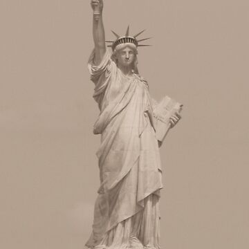 Statue of Liberty in Sepia by JohnDalkin