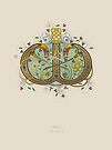 Celtic Initial W by Thoth Adan