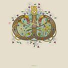 Celtic Initial W by Thoth Adan