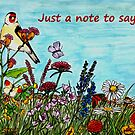 Flower Meadow - Just a Note to Say... Card by EuniceWilkie