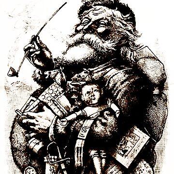 Merry Old Santa - Thomas Nast by BestPaintings