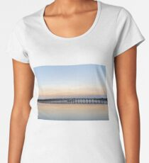 Quinta do Lago Wooden Bridge and Twilight Women's Premium T-Shirt