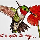 Humming Bird - Just a Note to Say... Card by EuniceWilkie