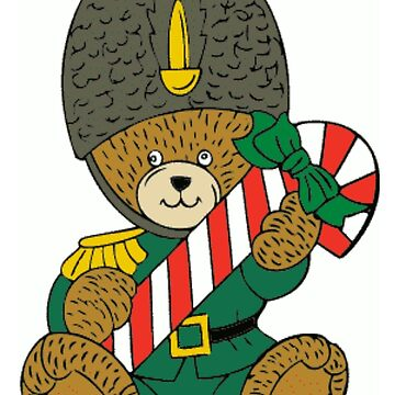 Christmas Teddy Bear Soldier With candy Cane by BlackStarGirl