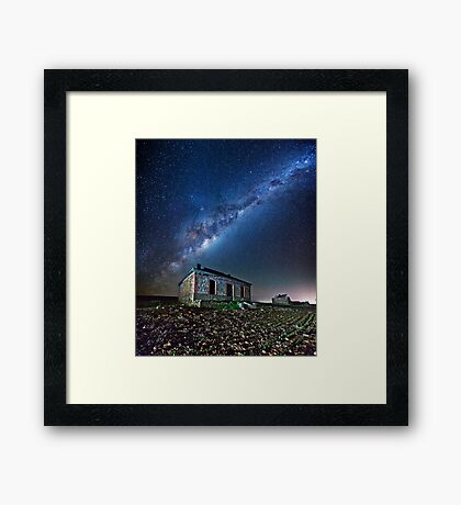 Burra North Ruin and Galaxy Framed Print