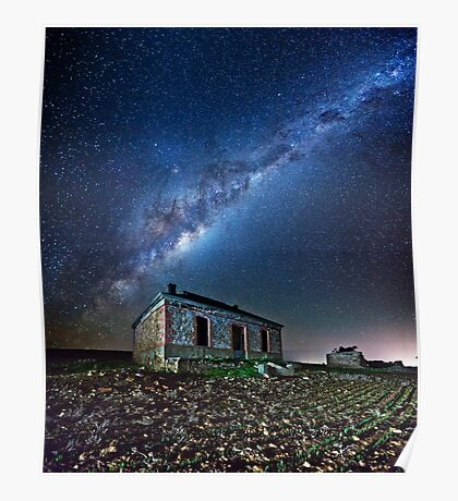 Burra North Ruin and Galaxy Poster
