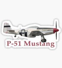 P-51 Mustang Sticker