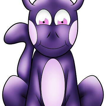 Purple alien pet by Melcu
