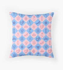 Fantastical Fairytale Pattern Throw Pillow