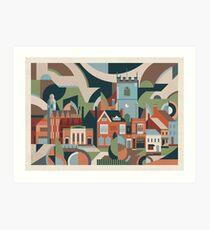Moseley Village Art Print