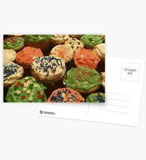 Christmas cupcakes with sprinkles Postcards