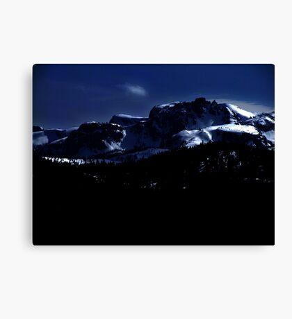 Moonlit Mountains Canvas Print