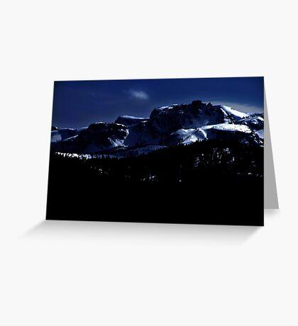 Moonlit Mountains Greeting Card