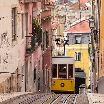 Tram in Lisbon, Portugal by CarolynEaton