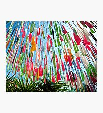 Coloured Ribbons Photographic Print