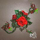 Single Rose by linmarie