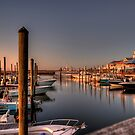 DOCKED BOATS (Very Early at the Marina) by TJ Baccari Photography