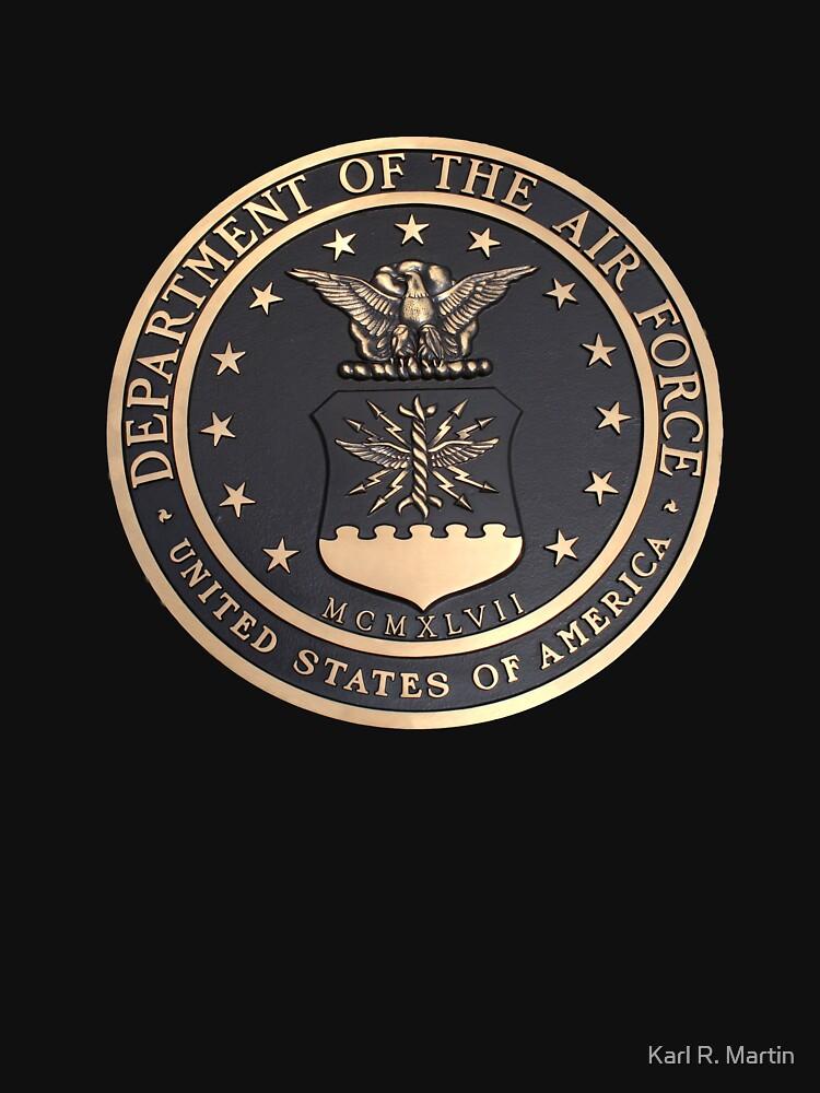 US Air Force Emblem T-Shirt by SirEagle