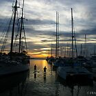 PADDLE INTO THE SUNSET by fsmitchellphoto