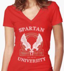 Spartan University / God of War Women's Fitted V-Neck T-Shirt