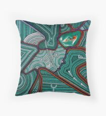 Abstract Dot Painting SHOOTING STARS by Dutch Artist Tessa Smits Throw Pillow