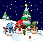 .Penguins Christmas by walstraasart