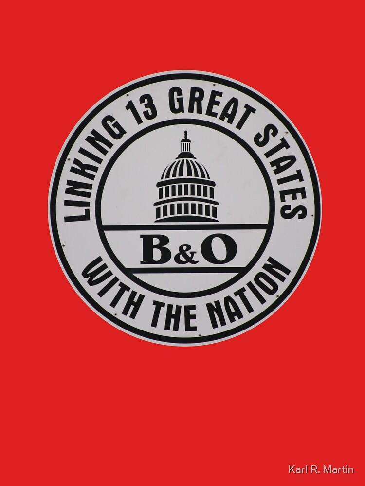 B&O Railroad T-Shirt by SirEagle