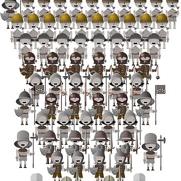 Miniature Medieval Mechanical Robot Army by Salocin