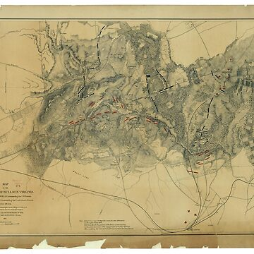 Civil War Map of the Battlefield of Bull Run, Virginia (July 21, 1861) by allhistory