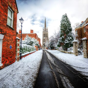 Westgate, Louth Winter Snow Scene by tommysphotos