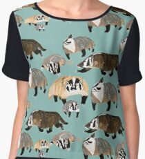 Badger mommy Chiffon Top