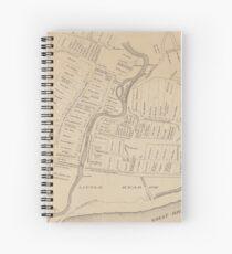 Vintage Map of Hartford CT  in 1640 (1890) Spiral Notebook
