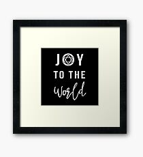 Joy To The World Star of David Hanukkah Framed Print