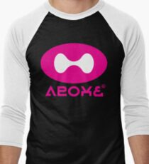 Tentatek Schwarz / Himmel-Blau Squideye T-Shirt Baseballshirt mit 3/4-Arm