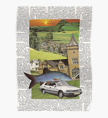 The house, the car, the fish (into the sunset) Poster