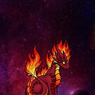 Cosmic Elemental Fire Dragon Cosmic by Rebecca Golins