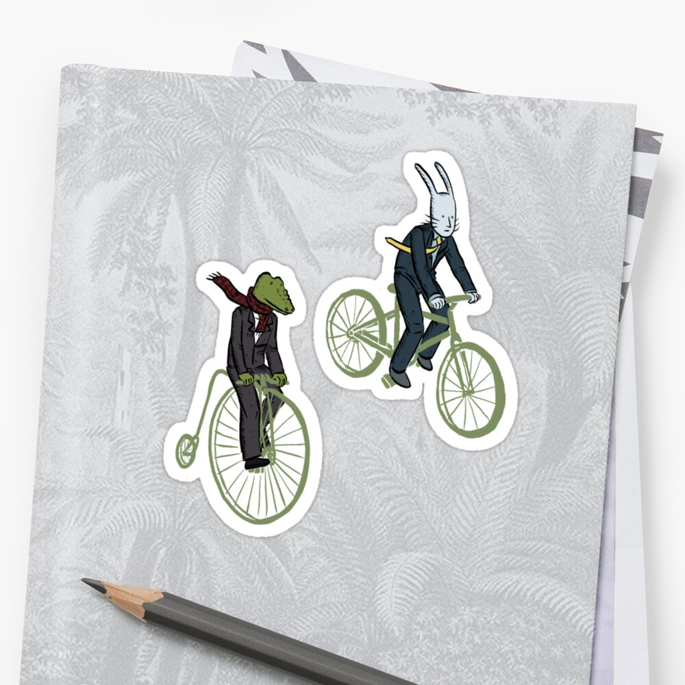 Cycling Rabite and Croco by Alice Carroll