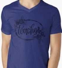 Teacher V-Neck T-Shirt