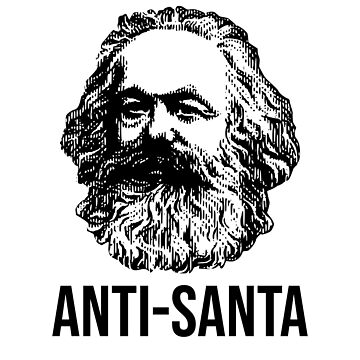 ANTI-SANTA Karl Marx Communism Christmas man by kailukask