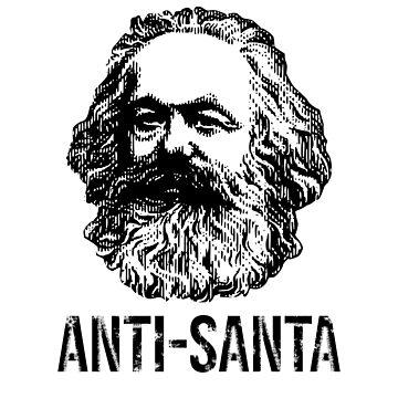 ANTI-SANTA Karl Marx Communism Christmas man by kailukask
