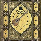 Gold Embossed Book Cover Guitar Shakespeare by goodedesign