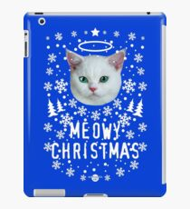 41 Cat Holy Snow Cat MEOWY CHRISTMAS iPad Case/Skin