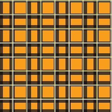 Orange Tartan  by Real-Digital