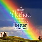 Hebrews 7:22 Bible Verse Rainbow Yeshua Covenant Print by ScripturePics