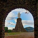 Saint Mary statue in old medieval castle Schirmeck by Alexander Sorokopud
